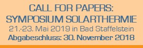 Conexio Solarthermie Call f papers 30.11.2018 Ende STSymp.2019 CfP 292x98px