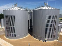 biogas plant with organic solar film by Heliatek2
